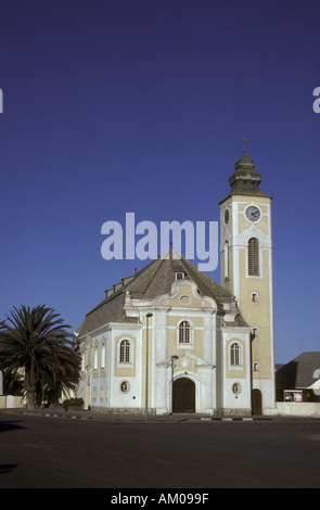 Lutheran church in early 20th century German colonial style Swakopmund Namibia south west Africa - Stock Photo