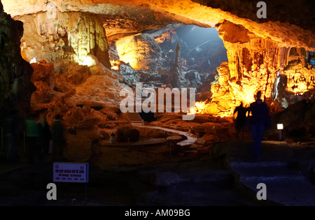 Sung Sot Cave, Halong Bay, Vietnam - Stock Photo