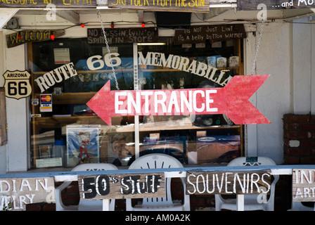 Shop in Seligman on the Route 66, Arizona, USA - Stock Photo
