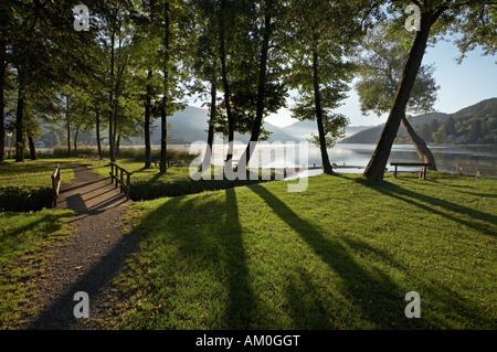 Lake Millstatt, Seeboden, Carinthia, Austria - Stock Photo