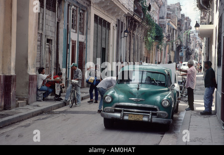 Street scene in Havana, Cuba - Stock Photo