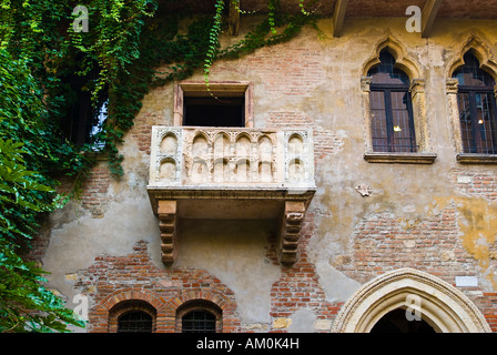 Balcony Casa di Giuletta, Julia House, Verona, Italy - Stock Photo