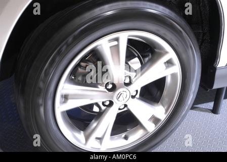 wheel tyre tire hub cap hubcap wheel trim wheel arch car vehicle automobile stock photo