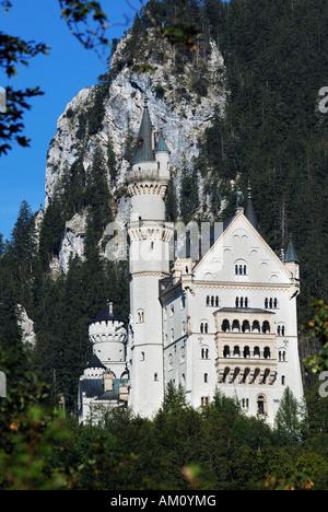 Neuschwanstein Castle, Allgaeu, Bavaria, Germany - Stock Photo