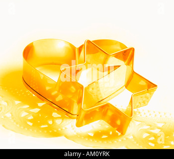 Biscuit cutters, cookie cutters - Stock Photo