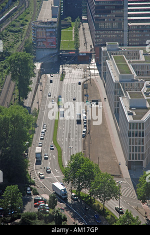View from LVR tower, Cologne, North Rhine-Westphalia, Germany - Stock Photo