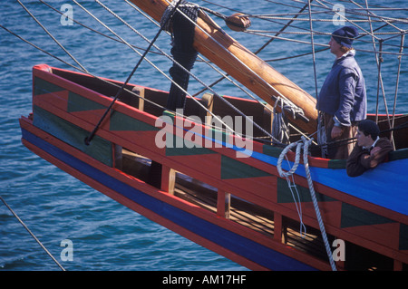 Replica of Mayflower II Ship model - Stock Photo
