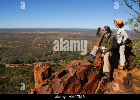 View over the bushland, Waterberg, Namibia - Stock Photo