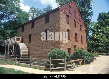 Exterior of Colvin Run grist mill Fairfax Virginia - Stock Photo