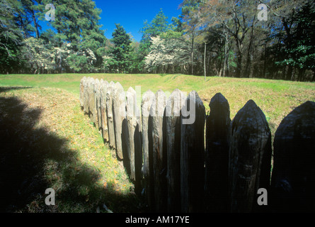 Gravestone commemorating The Lost Colony at Roanoke NC - Stock Photo