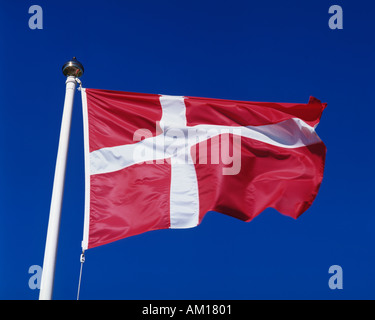 Danish flag Denmark - Stock Photo