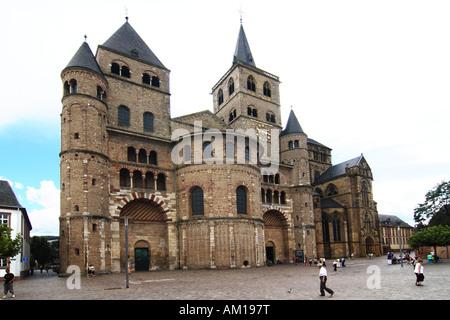 Cathedral, Old City center, Trier, Rheinland-Pfalz, Germany - Stock Photo