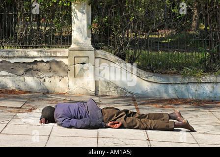 Homeless man, Maputo, Mozambique, Africa - Stock Photo