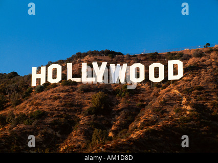 United States of America, California, Los Angeles, The Hollywood sign in Beverley Hills - Stock Photo