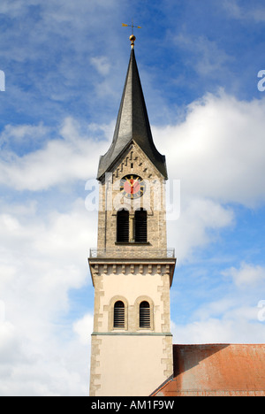 Tuttlingen - the historical clock-tower from the church saint peter an paul - Baden Wuerttemberg, Germany, Europe. - Stock Photo