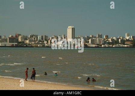 Maputo skyline from Katembe district. Maputo, Mozambique, Africa - Stock Photo