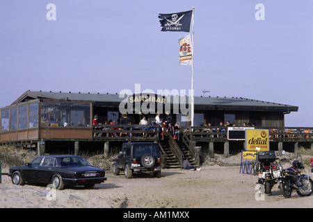 geography / travel, Germany, Schleswig-Holstein, Sylt, gastronomy, beach bar 'Sansibar', Additional-Rights-Clearances - Stock Photo