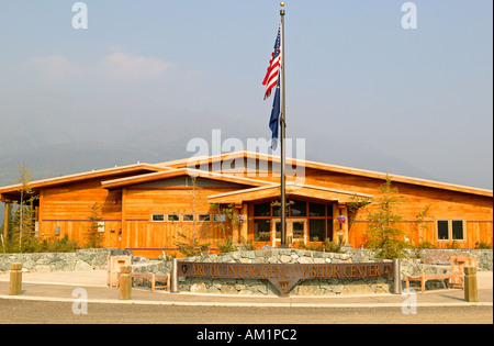 The Arctic Interagency Visitor Center located in the Brooks Range along the Dalton Highway Coldfoot Alaska - Stock Photo