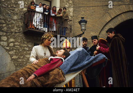 Legend of Teruel lovers MIDDLE AGES FESTIVAL in TERUEL Spain - Stock Photo