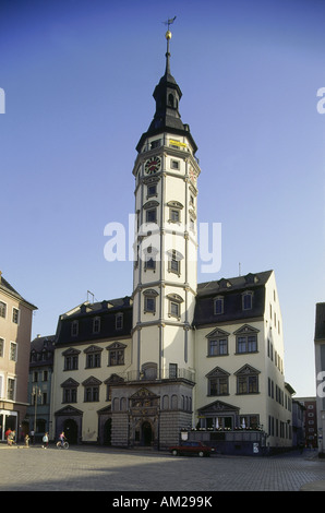 geography / travel, Germany, Thuringia, Gera, buildings, town hall, built: 1573 - 1576, exterior view, market place, - Stock Photo