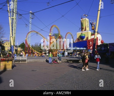 geography / travel, Austria, Vienna, Prater, amusement park 'Wurstelprater', rollercoaster, Additional-Rights-Clearance - Stock Photo