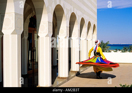 Egypt, Hurghada, The Oberoi Hotels & Resort, Sahl Hasheesh 5 star hotel, whirling dervish - Stock Photo