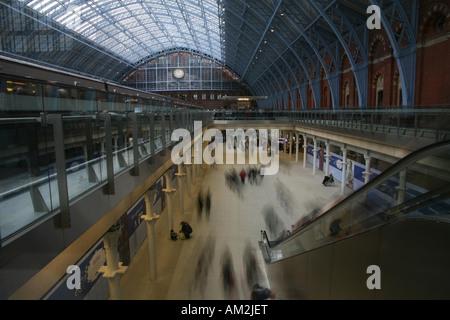 Concourse St Pancras Station London - Stock Photo