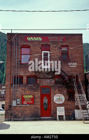 Oasis Bordello Museum back entrance Wallace Idaho - Stock Photo