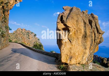 France, Corse du Sud, Golfe de Porto, Calanches of Piana village, labelled Les Plus Beaux Villages de France - Stock Photo