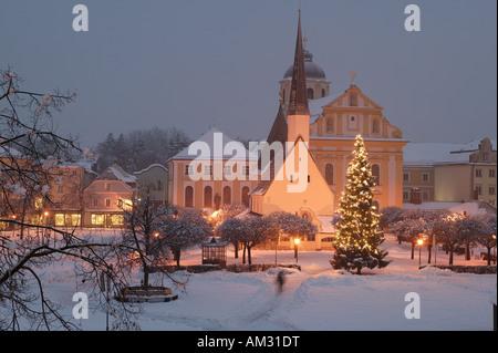 Gnadenkapelle (Chapel of the Miraculous Image), Altoetting, Upper Bavaria, Germany - Stock Photo