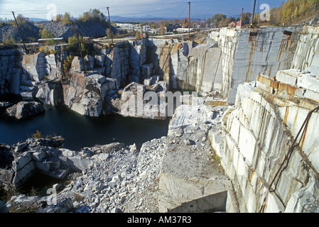 The largest monumental granite quarry in Barre VT - Stock Photo