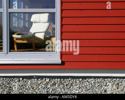 Window of a one family house - Stock Photo
