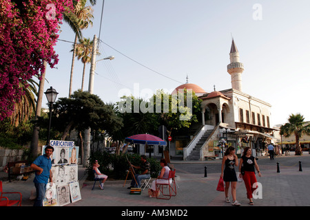 greece dodecanese kos platea eleftherias in kos town - Stock Photo
