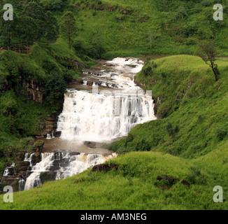 St Clair falls the widest of Sri Lanka s numerous waterfalls - Stock Photo