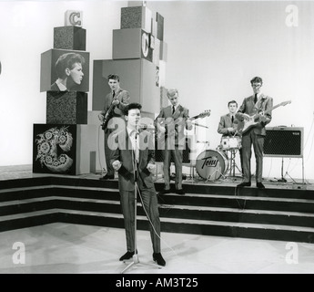CLIFF RICHARD on his TV show in January 1961 From left Bruce Welch Cliff Jet Harris Tony Meehan Hank Marvin - Stock Photo