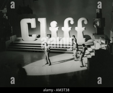 CLIFF RICHARD and The Shadows in a TV recording in 1961 - Stock Photo