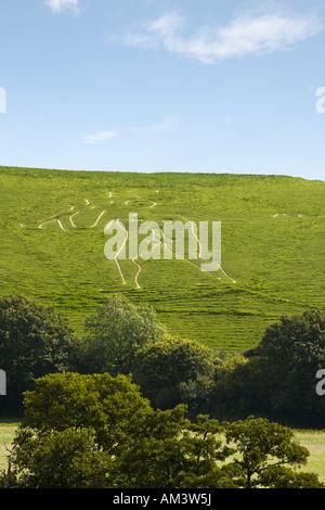 The Cerne Abbas giant Dorset England UK - Stock Photo
