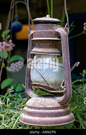 Old Kerosene lamp - Stock Photo