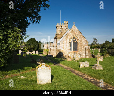 St John the Baptist church in Broadwindsor, Dorset, UK - Stock Photo