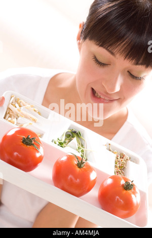 woman on diet - Stock Photo