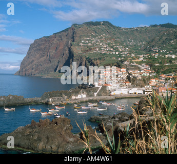 The south coast fishing village of Camara de Lobos (where Winston Churchill used to paint),  Madeira, Portugal - Stock Photo