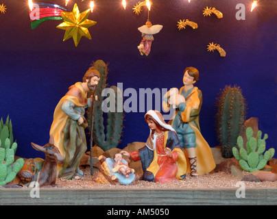 A Christmas nativity scene - Stock Photo