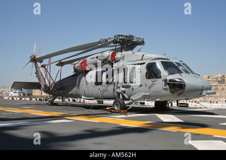 US Navy Sikorsky MH-60S Knighthawk helicopter on board the amphibious assault ship USS Kearsarge