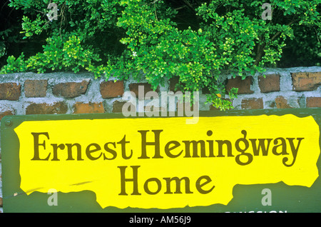 The Ernest Hemingway Home and Museum Key West Florida - Stock Photo