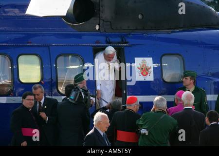 Papal visit of Benedikt XVI, Altoetting, Bavaria, Germany - Stock Photo
