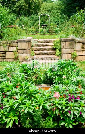 United States. Pennsylvania. Philadelphia. Gardens in front of the ...