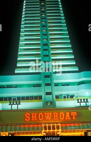 Showboat Casino on Boardwalk in Atlantic City NJ - Stock Photo