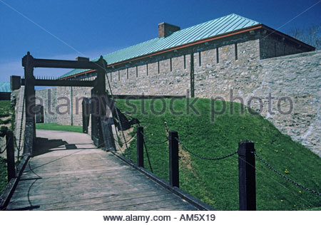 Gate at Old Fort Erie in the town of Fort Erie Ontario Canada - Stock Photo