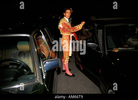 Algeciras bullfighter el Gallito de Tarifa leaving after his bullfight - Stock Photo