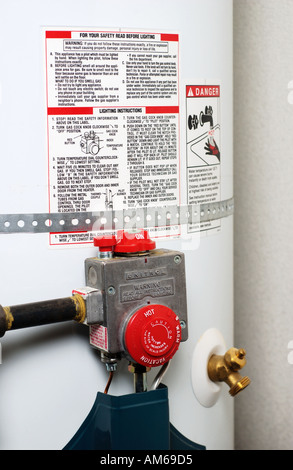 gas hot water heater stock photo